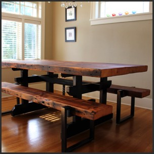 Rustic table, rainier rustic